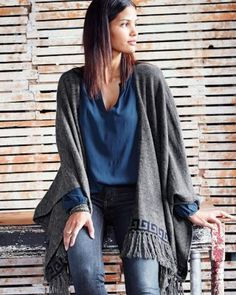 Taos Fringe Poncho - want a poncho, whether from stitch fix or somewhere else.
