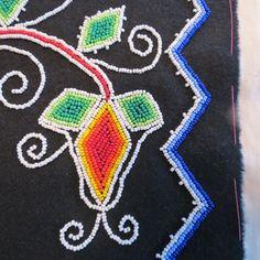 Detail of bag front.