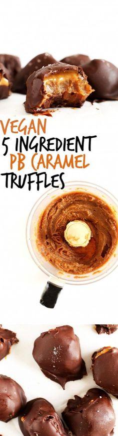 The Vegan Life: 5 ingredient PB caramel truffles - Hubub