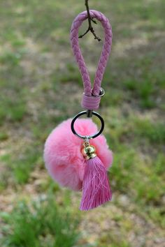 Baby Pink Rabbit Fur Ball Keychain, Backpack, Handbag, Party, Gift by ZEnella on Etsy https://www.etsy.com/listing/289208519/baby-pink-rabbit-fur-ball-keychain