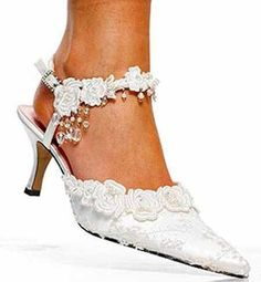 Wedding Shoes for the bride who doesn't want the high heeled shoe.