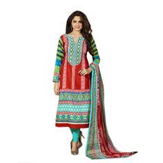 New Indian Salwar Kameez Ethnic Embroidered Salwar Suit Patiala Cotton  #Unbranded #IndianPatialasalwarSuit