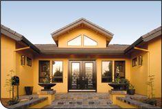 Tonos de Amarillo Exteriores de casas Casas coloridas Pinturas de casas exterior