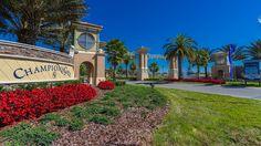 Champions Gate entrance location just off HWY27 in Davenport, Florida | http://www.vr360homes.com/north-america/florida/disney-orlando-villas/champions-gate/