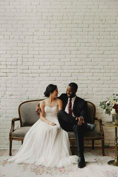 The couple from this minimalist wedding at One Eleven East is the sweetest around  | Image by Geoff Duncan