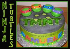 Ninja turtles cake | Birthday Cakes For Boys -To cute! May try something like this for Brody's 4th birthday!