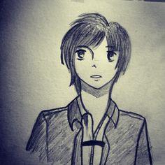 Figurine doodle with manga style.