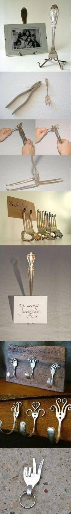 Wat te doen met oude vorken. Bizar maar stiekem eigenlijk ook heel leuk!
