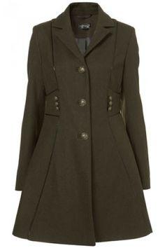 Militar piped girly coat