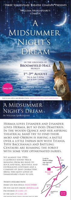 Beautiful & outrageous costumes + 50s music bring A Midsummer Night's Dream to life at Broomfield Hall, Morley 1-3 Aug @derbyshakes http://www.derbylive.co.uk/whats-on/a-midsummer-nights-dream
