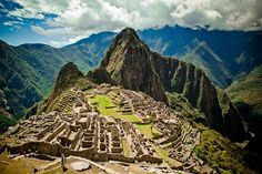 From the top of Macchu Pichu Peru