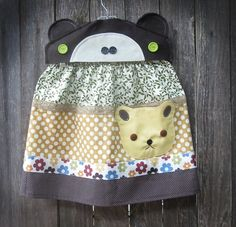 TeddyBear Pocket Skirt by FreckledChicken on Etsy, $32.00