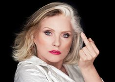 she's still got the sass that made her famous. Debbie Harry is best known for being the lead singer of Blondie ( . Bruce Dickinson, Iron Maiden, Caroline Hirons, Blondie Debbie Harry, Blondies, Celebs, People, Beauty, Middle Fingers