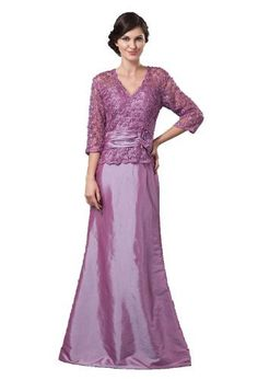 Purple V-neck Lace Covered Floor-length Mother of the Bride Dresses Customize, http://www.amazon.com/dp/B00H75J5H0/ref=cm_sw_r_pi_awdm_vomstb1SD1JGK