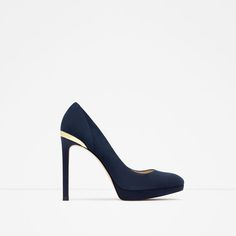 Image 1 of HIGH HEEL AND PLATFORM LEATHER SHOES from Zara
