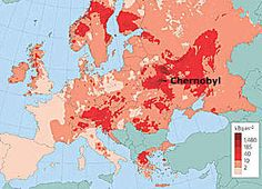 Map of fallout from the Chernobyl nuclear disaster