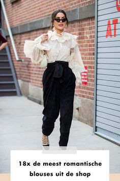 Blouses | ruffles | girl | woman | streetstyle | fashion | shop now | fashionchick | ootd | romantic blouses
