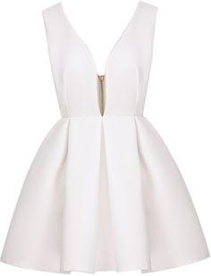 Vestido cuello pico sin espalda-blanco 23.92