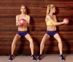Get tight abs (and a rockin' body) with these workout moves from Anna Kournikova Reto Fitness, You Fitness, Fitness Goals, Fitness Tips, Health Fitness, Women's Health, Fitness Workouts, Easy Workouts, At Home Workouts