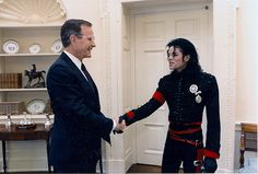 George Bush invited Jackson to the White House after he won an entertainer of the decade award.