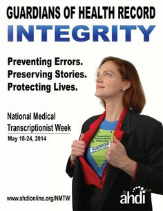 Celebrating the people who ensure that health records are accurate, secure, and meaningful for the best patient care. Medical Transcriptionist, Speech Recognition, Medical Assistant, Integrity, Health Care, Join, Trends, How To Plan, Board