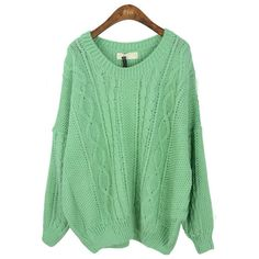 Green Round Neck Long Sleeve Batwing Loose Sweater - I ordered this we'll see how it looks! Loose Sweater, Green Sweater, Comfy Sweater, Pullover, Sweatshirt, Fall Sweaters, Oversized Sweaters, Knit Sweaters, Vintage Sweaters