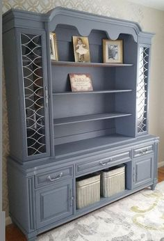 Take the plunge and DO it! This idea will make your 'ugly' hutch so stunning!