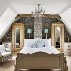 Incredible Cool Bedroom Presents Most Comfortable Space To Sleep : Classic  Cool Bedroom Design Chandelier Sloping