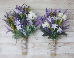 Small Wildflower Bouquet Lavender Bouquet Boho Wedding