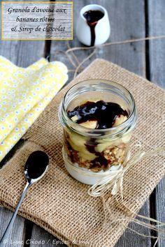 Granola d'avoine aux bananes rôties et sirop de chocolat http://www.epicesetmoi.be/2018/05/retour-sur-lanimation-fiskars-au-bhv-2-recettes-samedi.html