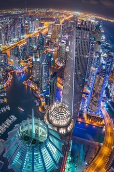 This is a photograph of the city of Dubai. The thing I like about this image is that it shows you the skyline of modern cities as the buildings are more 'weird and wonderful' due to the contemporary themes of modern construction Dubai Vacation, Dubai Travel, Asia Travel, Dubai City, Dubai Hotel, Futuristic Architecture, Amazing Architecture, Landscape Architecture, Places To Travel