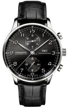 Discover a large selection of IWC Portuguese Chronograph watches on - the worldwide marketplace for luxury watches. Compare all IWC Portuguese Chronograph watches ✓ Buy safely & securely ✓ Iwc Watches, Cool Watches, Watches For Men, Fancy Watches, Black Watches, Mens Watches Leather, Sport Watches, Montre James Bond, Skeleton Watches