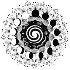 Moon cycle by Wecame2remembART.deviantart.com on @DeviantArt