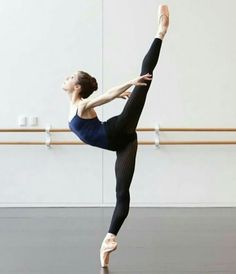 Practice at the barre.
