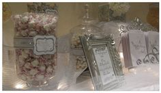 White and Silver Candy Buffet for wedding by The Candy Brigade at www.thecandybriga...