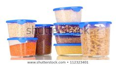Filled plastic containers isolated on white Food Storage Boxes, Storage Containers, Plastic Containers, Trunks, Good Food, Meals, Tableware, Usa Today, Finance