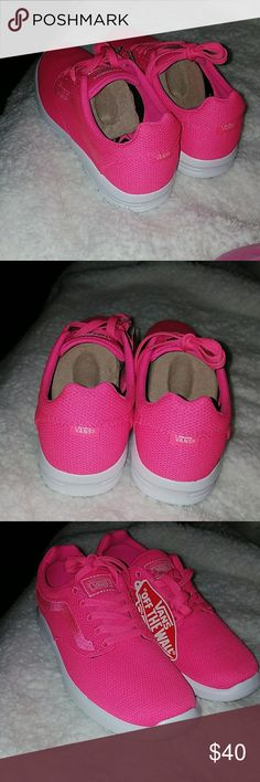 Vans Sneakers Very stlish bright pink Vans sneakers size 7.5. Brand new with tags but without box. Vans Shoes Sneakers