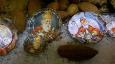 Saint Niclas paper plate Miniatures doll's house by minis4you