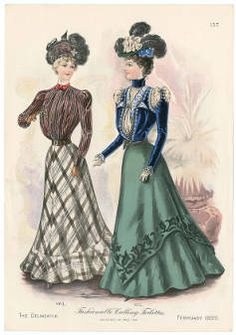 Women 1897-1899, Plate 068 :: Costume Institute Fashion Plates