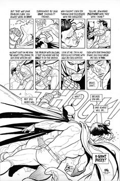 Frank Cho re-draws and re-writes the climactic battle in THE DARK KNIGHT RETURNS (2 of 2).
