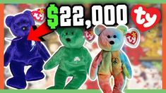 760cd3a794a RARE BEANIE BABIES WORTH MONEY - 90 s CHILDHOOD TOYS WORTH A FORTUNE!! -  YouTube