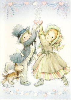 Postal aniversari Kids Poems, Spanish Painters, Sarah Kay, Holly Hobbie, Cute Little Things, We Are The World, Writing Paper, Cute Illustration, Big Eyes