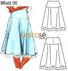 FALDA CON ENCAJE MUJER, CORTE REBECA. Summer Dresses, Denim, Fashion, Pants, Blouses, Lace Skirt, Skirts, Dressmaking, Beauty