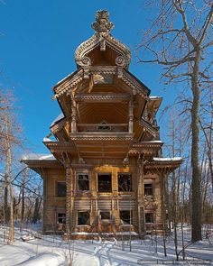 abandoned-places  4. Abandoned wooden houses, Russia Hidden deep within Russian forests, these beautiful wooden buildings have remained uninhabited for years.