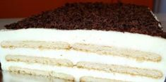 Túrótorta sütés nélkül, ha van otthon egy kis keksz és túró, te is könnyen elkészítheted! Vanilla Cake, Sweet Recipes, Tiramisu, Sweets, Ethnic Recipes, God, Hungarian Recipes, Sweet Pastries, Goodies
