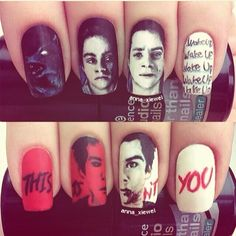 In love with these @Dylan O'Brien nails ! In honor of the Teen Wolf season finale on Monday ! @Teen Wolf pic.twitter.com/z4Po7dqaDo
