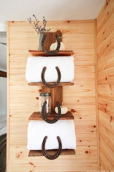 Rustic Update: Horseshoe Shelving Hack (Curbly). Diy Home DecorShelving ...