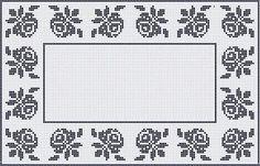 Free Crochet Pattern Charts at AllCrafts! Crochet Table Runner Pattern, Crochet Doily Patterns, Crochet Borders, Thread Crochet, Crochet Designs, Cross Stitch Borders, Cross Stitch Flowers, Filet Crochet Charts, Free Crochet