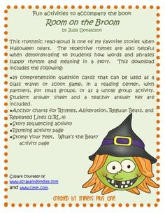 Fun Activities to accompany the book Room on the Broom by Julia Donaldson $
