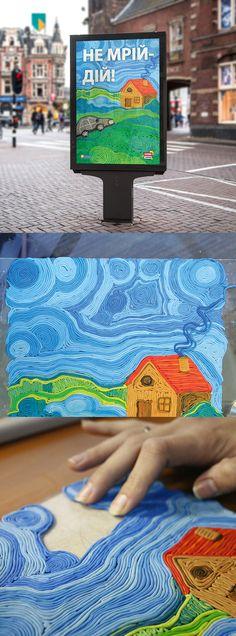 #design #logo #logotype #identity #ozidea #poster #plasticine School Art Projects, Clay Projects, Art School, Polymer Clay Painting, Yarn Painting, Diy For Kids, Crafts For Kids, Arts And Crafts, Diy Crafts